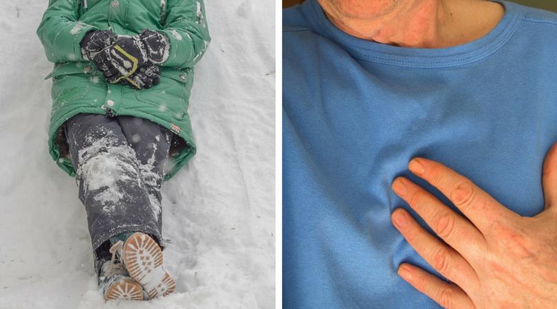 niskie temperatury, mróz a zdrowie, zawał serca