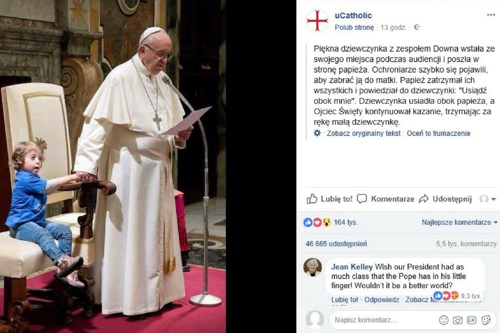 papież Franciszek, Franciszek, zespół Downa