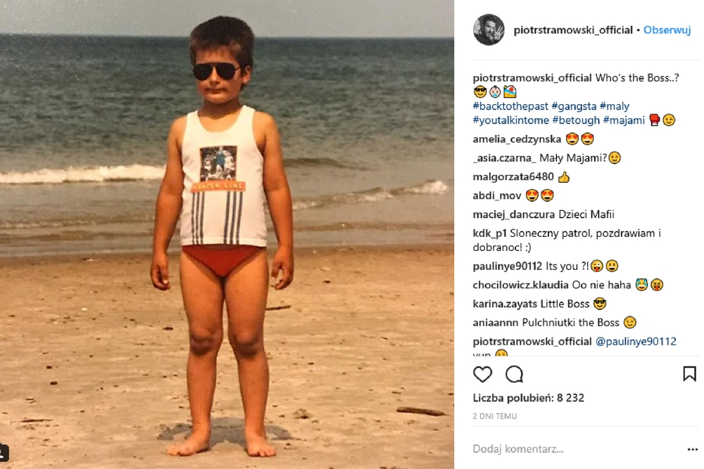 piotr stramowski, zdjęcia z dzieciństwa