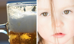 2-latka pija alkohol