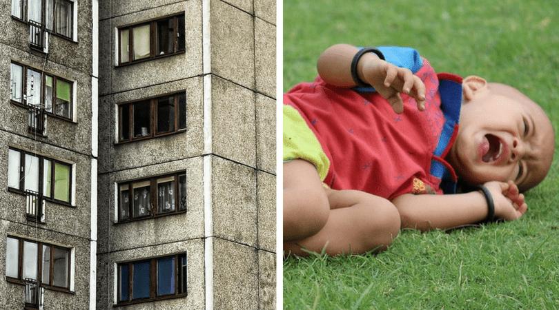 wyrzuciła z okna, przemoc wobec dzieci