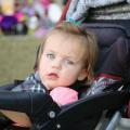 wózek dziecięcy, pielucha tetrowa, wózek dla dziecka