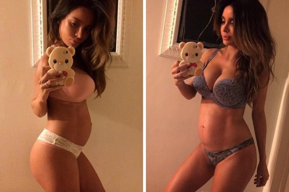 sarah stage, brzuch w ciąży, 9 miesiąc ciąży, kobieta w ciąży