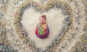 in vitro, zapłodnienie in vitro, hity internetu, viralowe zdjęcie, zdjęcie noworodka