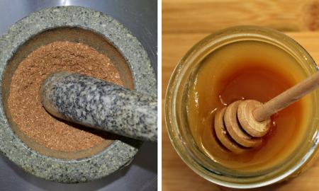 maseczka cynamonowa, cynamon, miód i cynamon, przepis na maseczkę