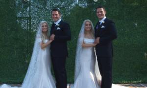 lub bliźniąt, ciąża bliźniacza, bliźniaczki poślubiły bliźniaków