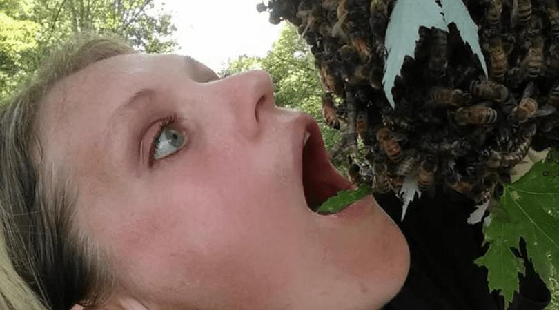 emily mueller, sesja brzuszkowa, sesja z pszczołami