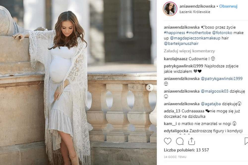 Anna Wendzikowska, znana celebrytka w ciąży, ciąża