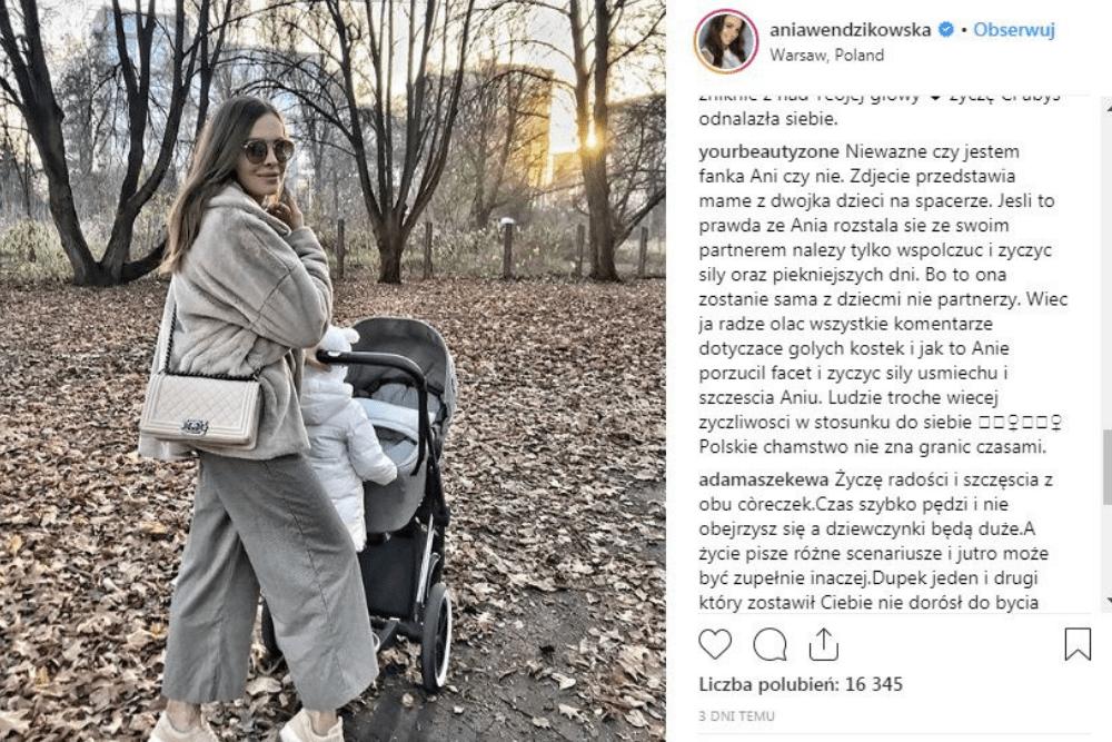 Anna Wendzikowska, samotne macierzyństwo, Anna Wendzikowska rozstała się z partnerem