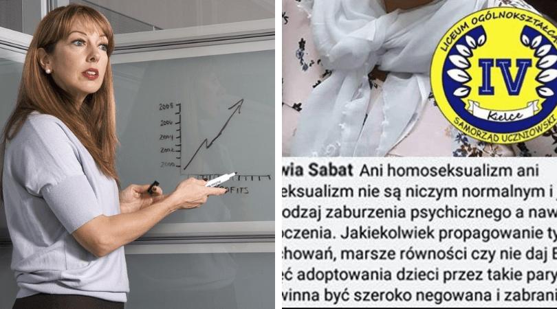 nauczycielka, nauczycielka o homoseksualizmie, homoseksualizm