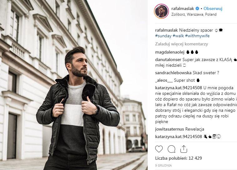 Rafał Maślak, znany celebryta zostanie tatą, Instagram
