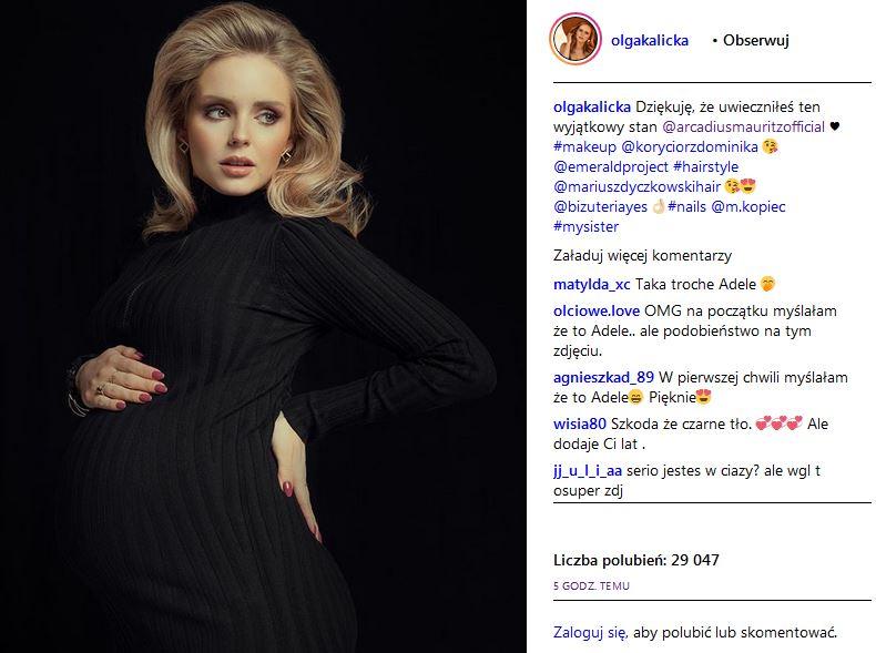 Olga Kalicka, Rodzinka.pl, znana aktorka w ciąży