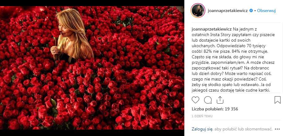 Joanna Przetakiewicz, Instagram, listy miłosne