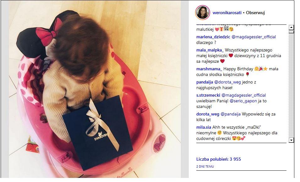 Weronika Rosati, Magda Gessler, Instagram