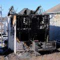 pożar domu, Syryjczycy, pożar domu syryjskich uchodźców