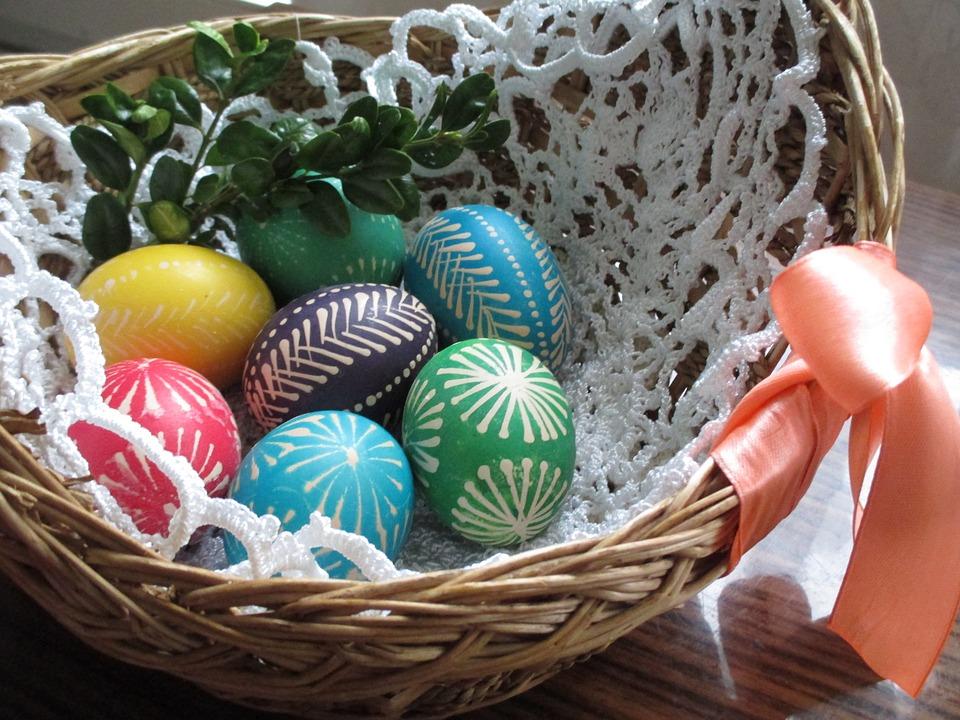 Wielkanoc, koszyczek wielkanocny